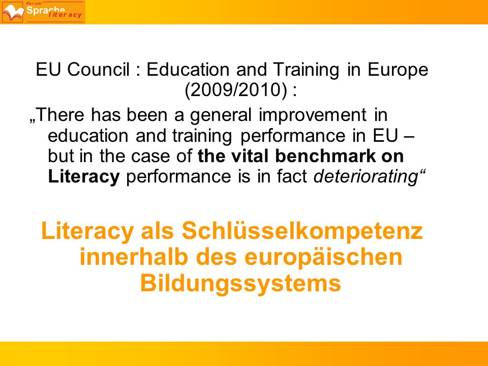 EU Council : Education and Training in Europe (2009/2010) : There has been a general improvement in education and training performance in EU – but in