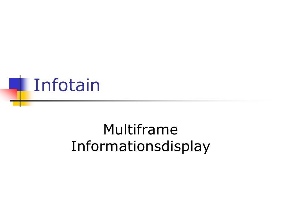 Infotain Multiframe Informationsdisplay