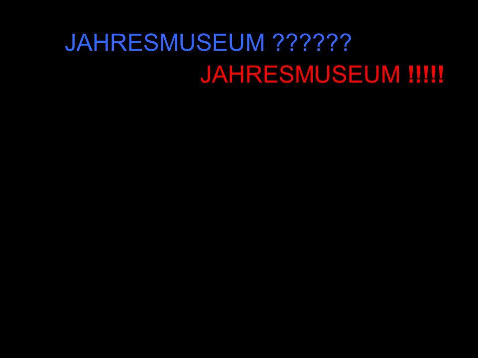 Ausgangssituation Erarbeitung eines ersten Entwurfs zum Museumskonzept Beschäftigung mit unterschiedlichen Ideen und Anregungen Idee des Jahresmuseums Konzept des Jahresmuseums Bewertung JAHRESMUSEUM !!!!!