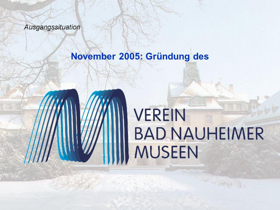 Ausgangssituation § 2 Zweck des Vereins Zweck des Vereins ist die Zusammenführung und Weiterentwicklung aller Museumsaktivitäten in Bad Nauheim unter Einbindung der Fachbehörden von Stadt, Kreis, Land und externen Fachleuten, ausschließlich zur Unterstützung und Förderung des Allgemeinwohls.