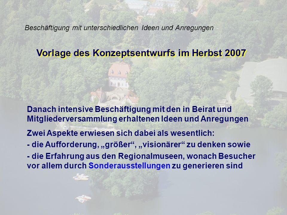 Idee des Jahresmuseums Der konzeptionelle Durchbruch wurde erzielt in einer Klausur im Februar 2008 mit der Idee Jahresmuseum Der konzeptionelle Durchbruch wurde erzielt in einer Klausur im Februar 2008 mit der Idee Jahresmuseum