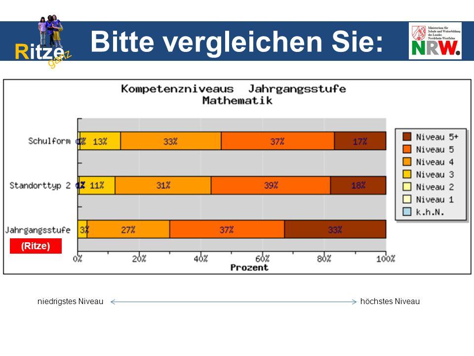 niedrigstes Niveauhöchstes Niveau (Ritze) Bitte vergleichen Sie: Ritze ganz