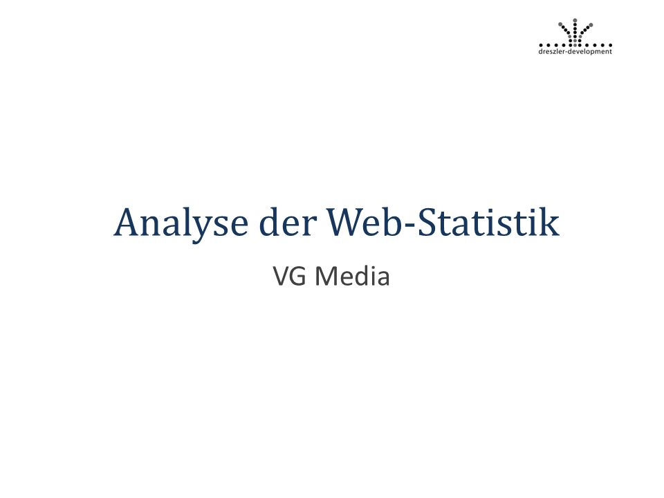 Analyse der Web-Statistik VG Media