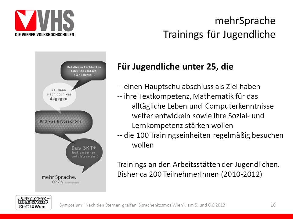 mehrSprache Trainings für Jugendliche Symposium