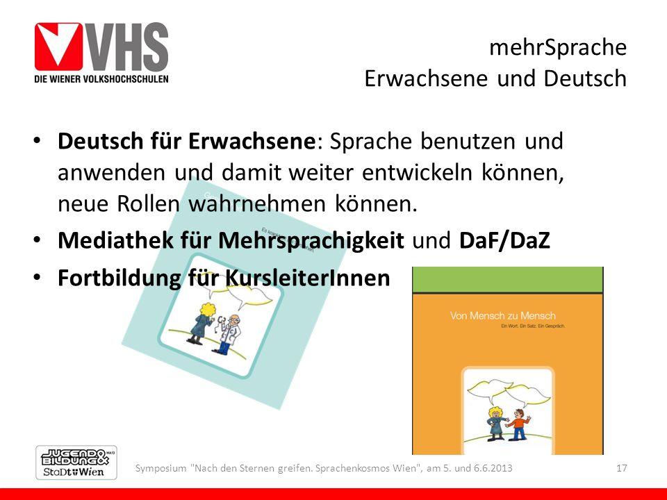 mehrSprache Erwachsene und Deutsch Symposium