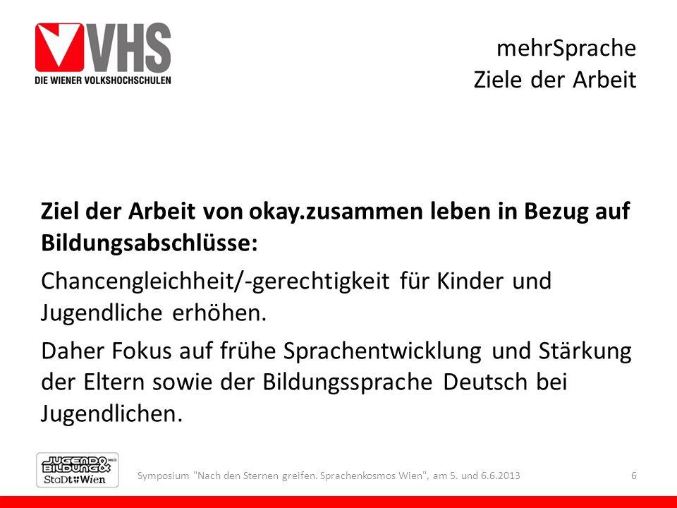 mehrSprache Erwachsene und Deutsch Symposium Nach den Sternen greifen.