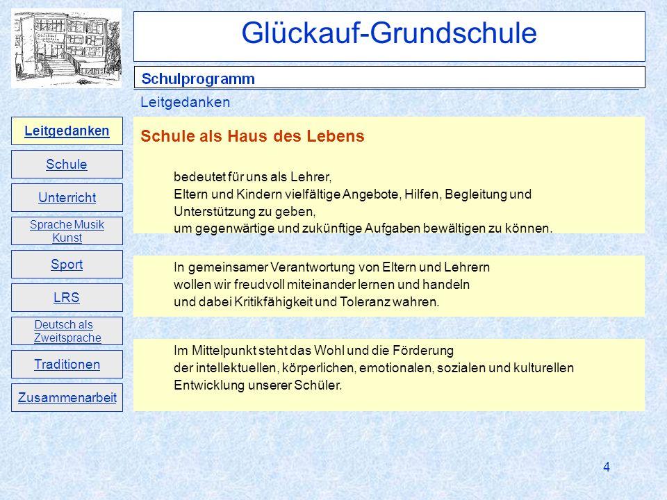 5 Das Schulprogramm der Glückauf-Grundschule Freital dokumentiert die wichtigsten Ziele und Entwicklungen unserer Schule.