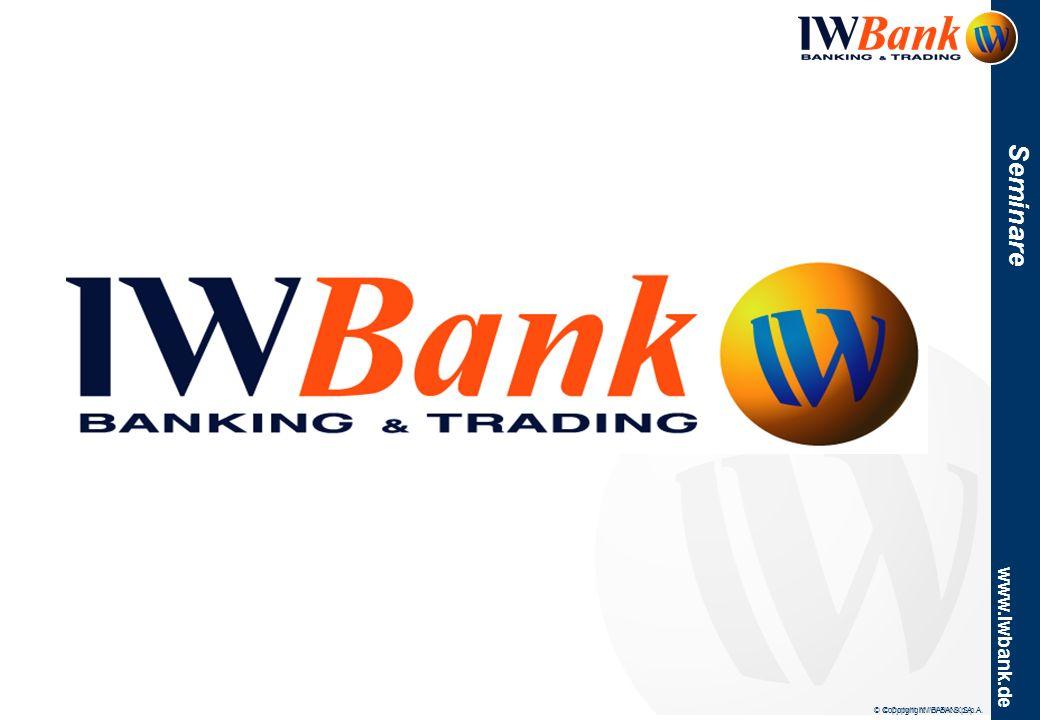 www.iwbank.de Seminare Stand Programm Freitag –11:30 -12:00 QuickTrade: das Trading 2.0 ist da.