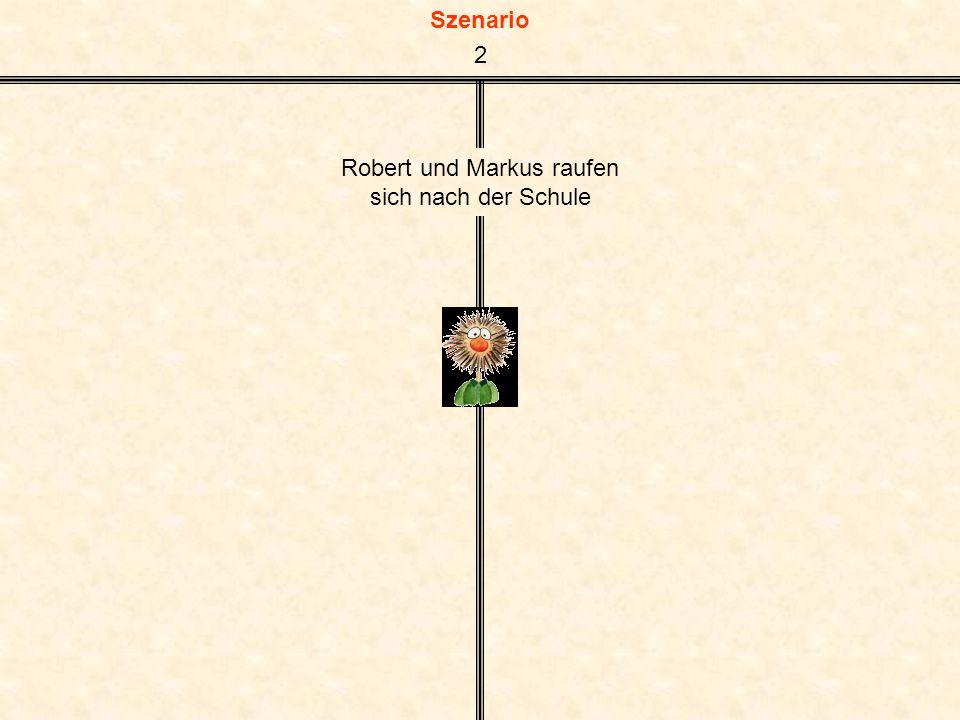 Szenario Robert und Markus raufen sich nach der Schule 2