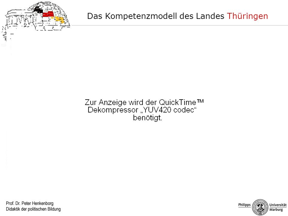 Das Kompetenzmodell des Landes Thüringen