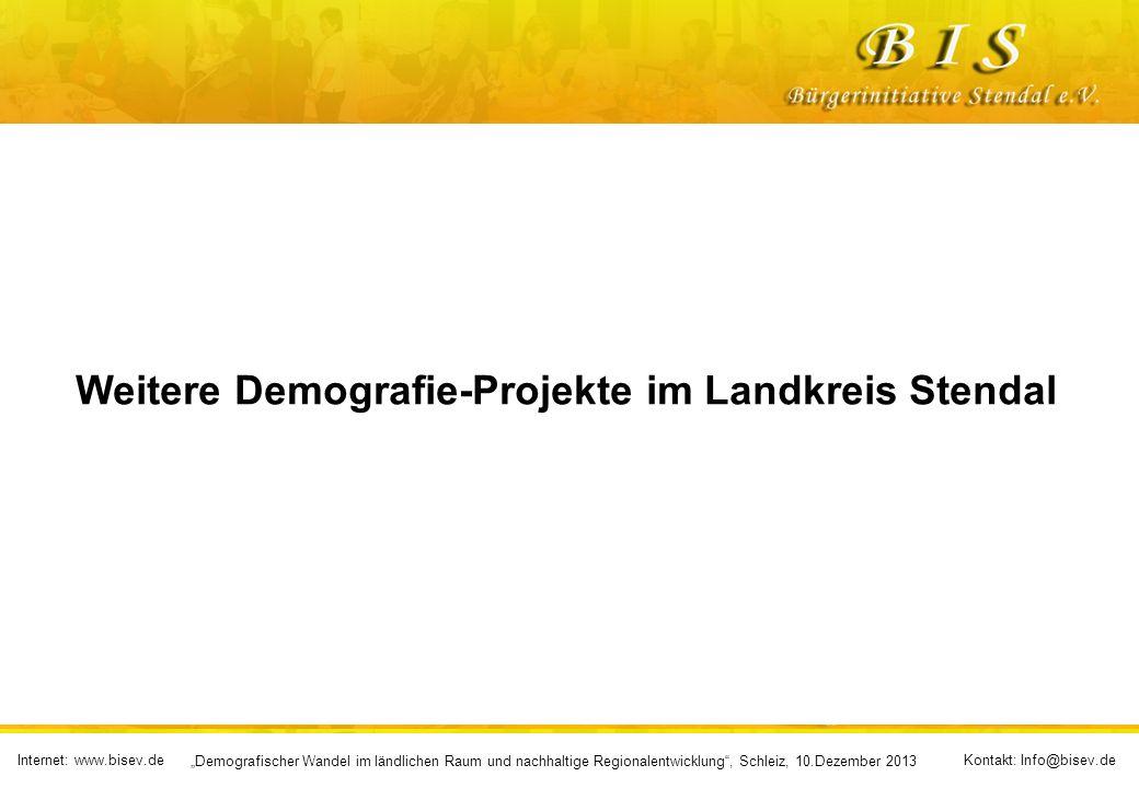 Internet: www.bisev.deKontakt: Info@bisev.de Demografischer Wandel im ländlichen Raum und nachhaltige Regionalentwicklung, Schleiz, 10.Dezember 2013 Neue Ideen setzen sich nicht dadurch durch, dass ihre Gegner überzeugt werden, sondern dadurch, dass sie aussterben!