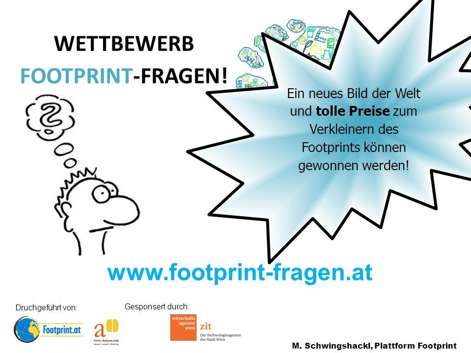 www.footprint-fragen.at WETTBEWERB FOOTPRINT-FRAGEN.