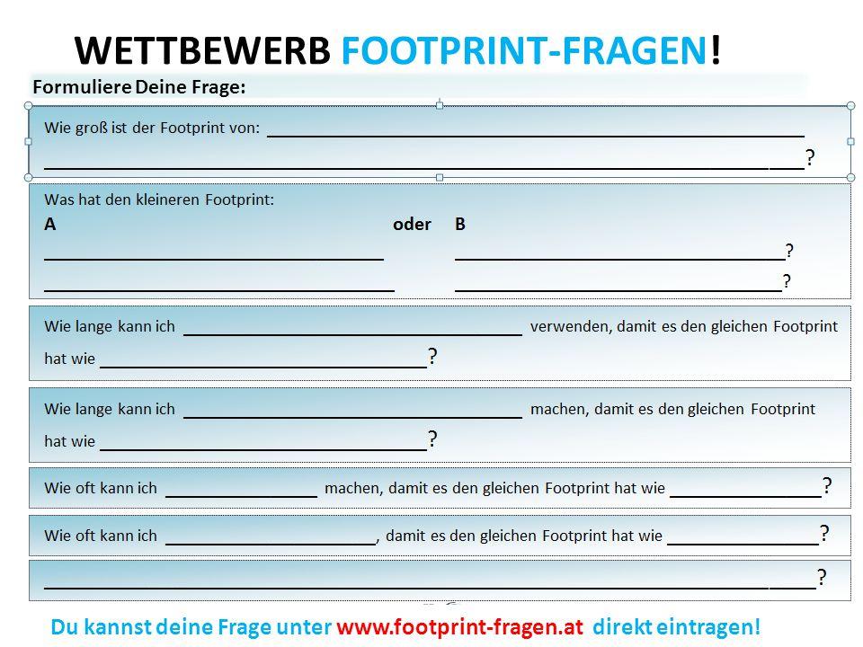 WETTBEWERB FOOTPRINT-FRAGEN.