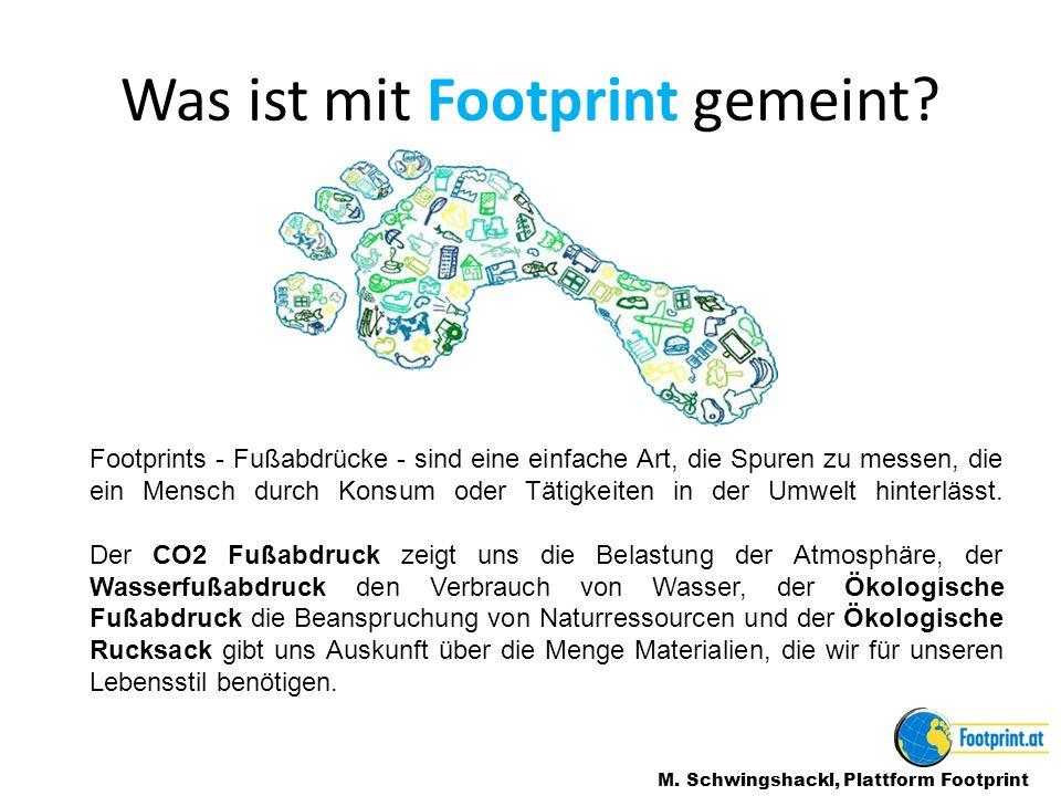 Wer weiß was der Ökologische Fußabdruck genau ist.