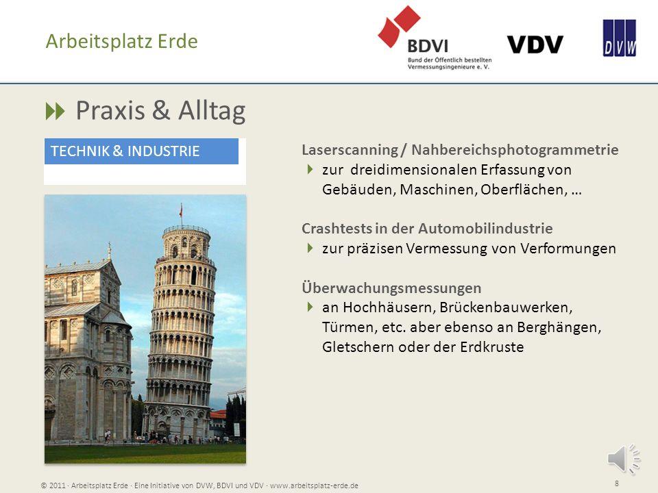 Praxis & Alltag © 2011 Arbeitsplatz Erde Eine Initiative von DVW, BDVI und VDV www.arbeitsplatz-erde.de 8 Arbeitsplatz Erde TECHNIK & INDUSTRIE Lasers