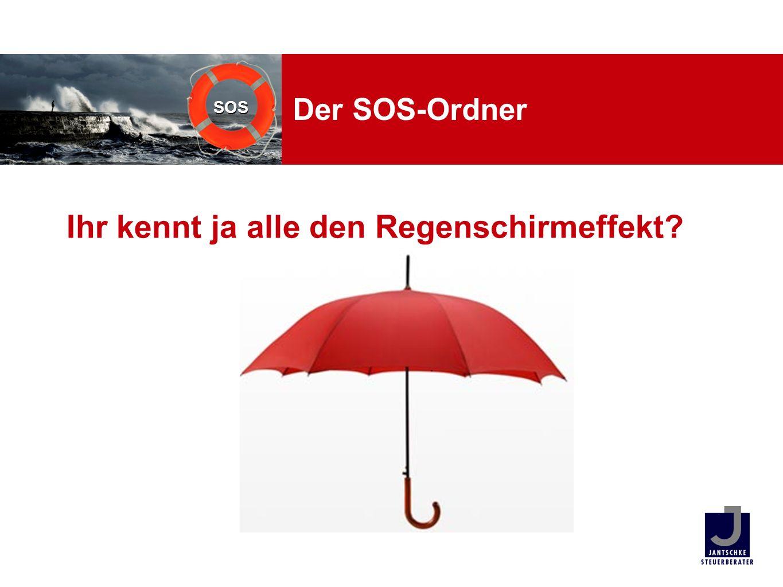 SOS Der SOS-Ordner Ihr kennt ja alle den Regenschirmeffekt?