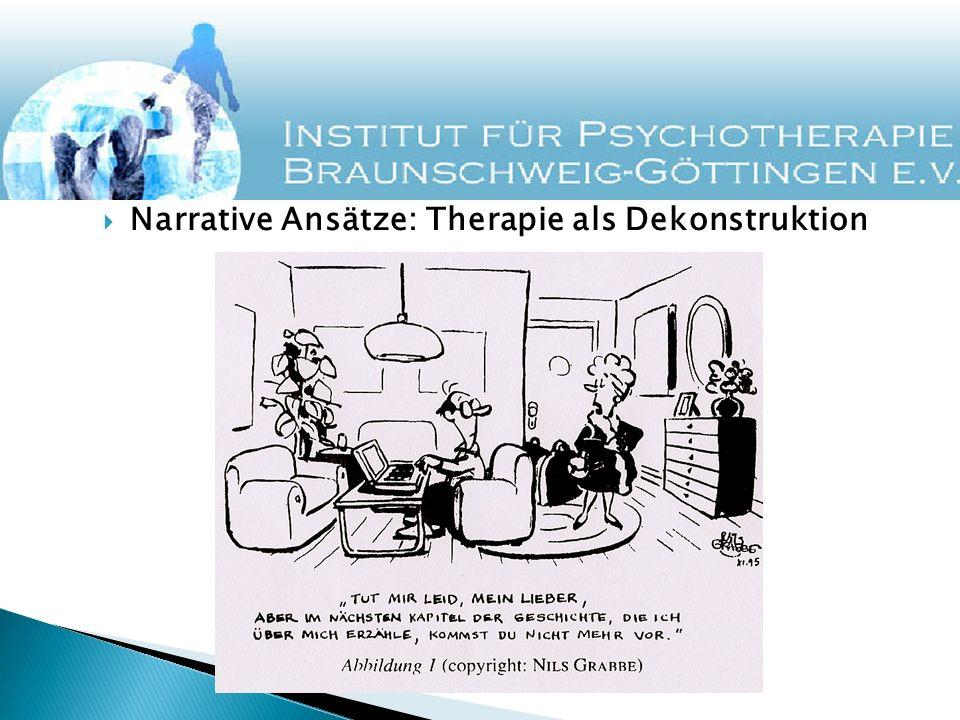 Narrative Ansätze: Therapie als Dekonstruktion