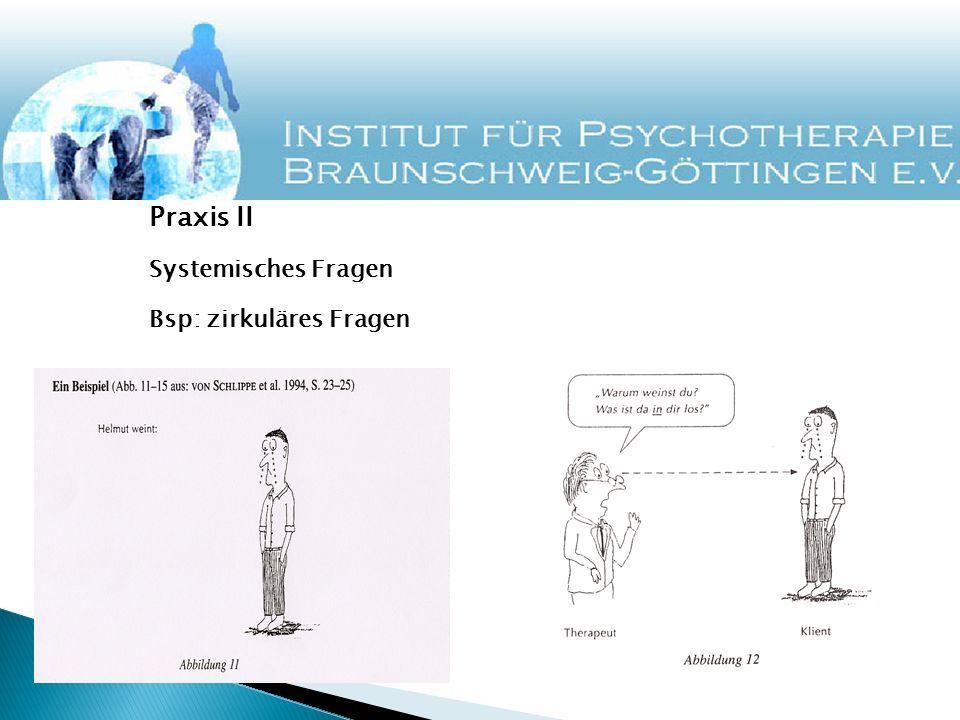 Praxis II Systemisches Fragen Bsp: zirkuläres Fragen