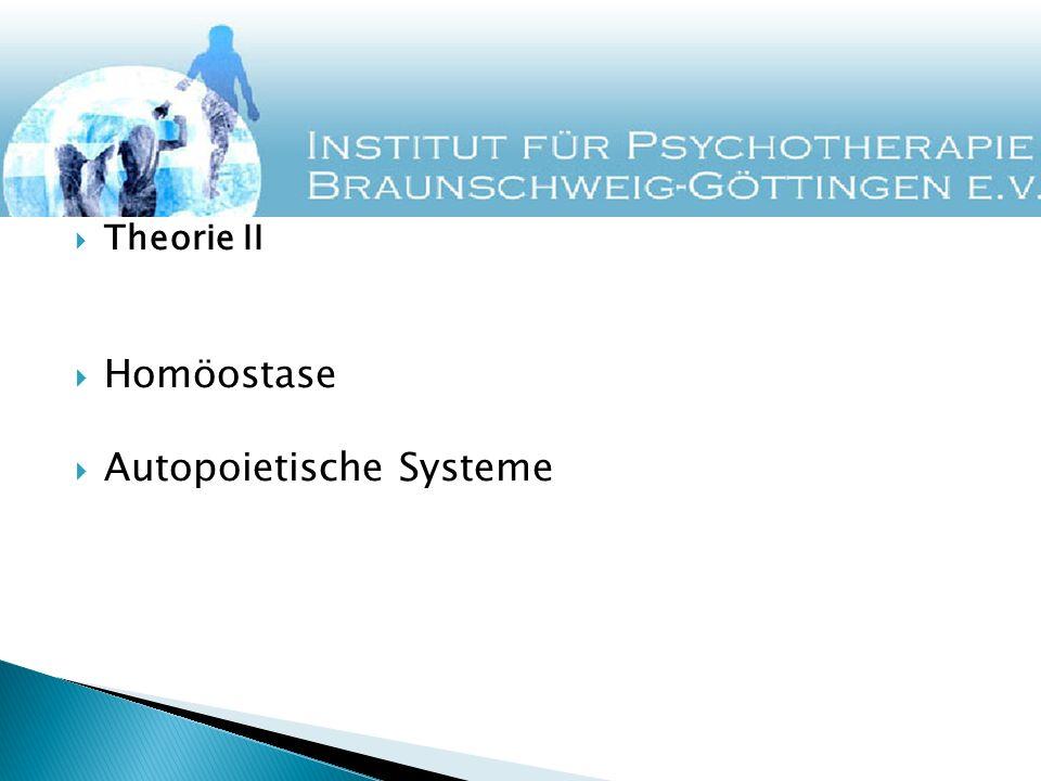 Theorie II Homöostase Autopoietische Systeme