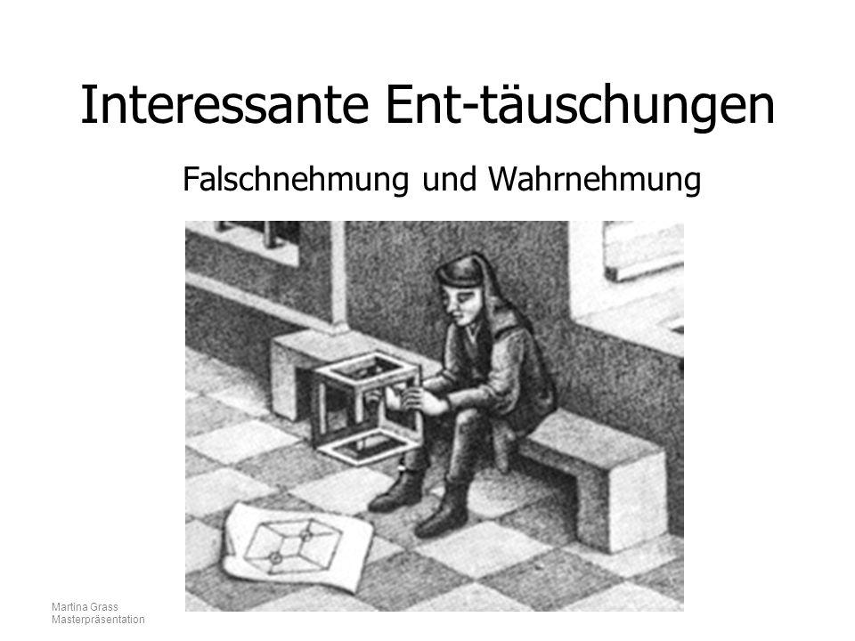 Martina Grass Masterpräsentation Interessante Ent-täuschungen Falschnehmung und Wahrnehmung