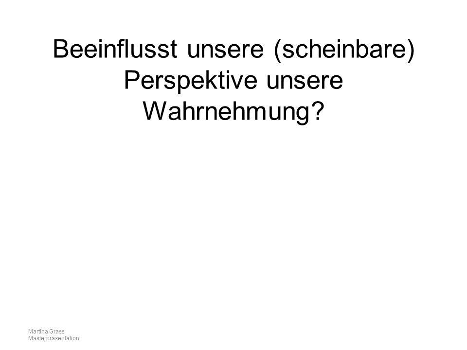 Martina Grass Masterpräsentation Beeinflusst unsere (scheinbare) Perspektive unsere Wahrnehmung?