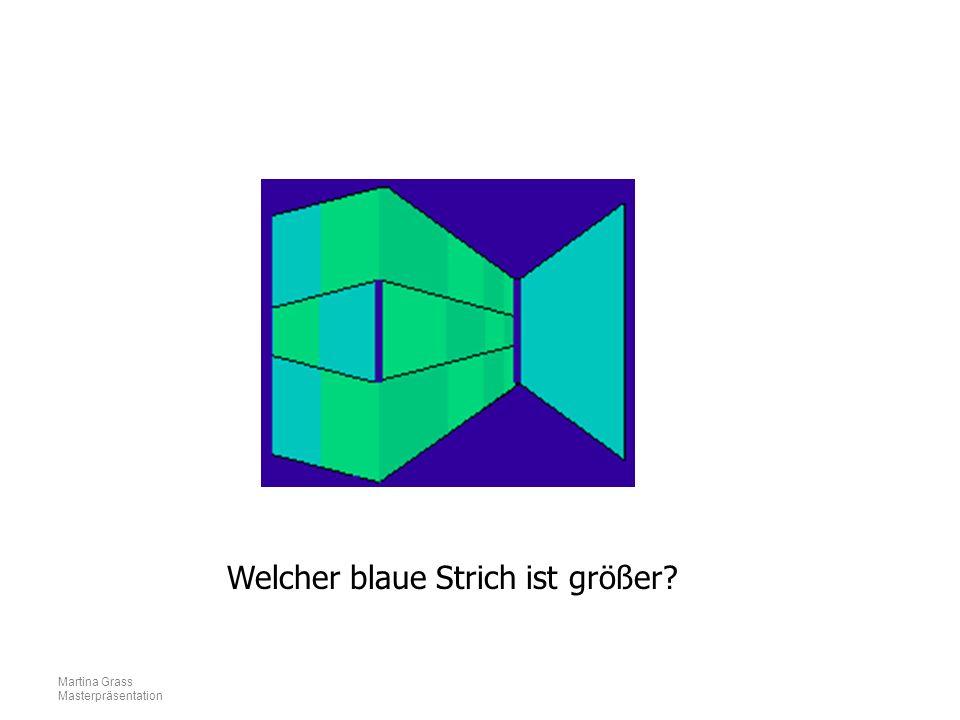 Martina Grass Masterpräsentation Welcher blaue Strich ist größer?