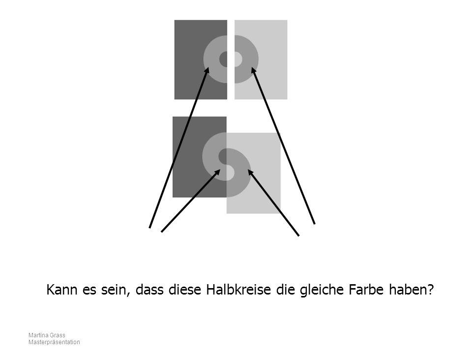 Martina Grass Masterpräsentation Kann es sein, dass diese Halbkreise die gleiche Farbe haben?
