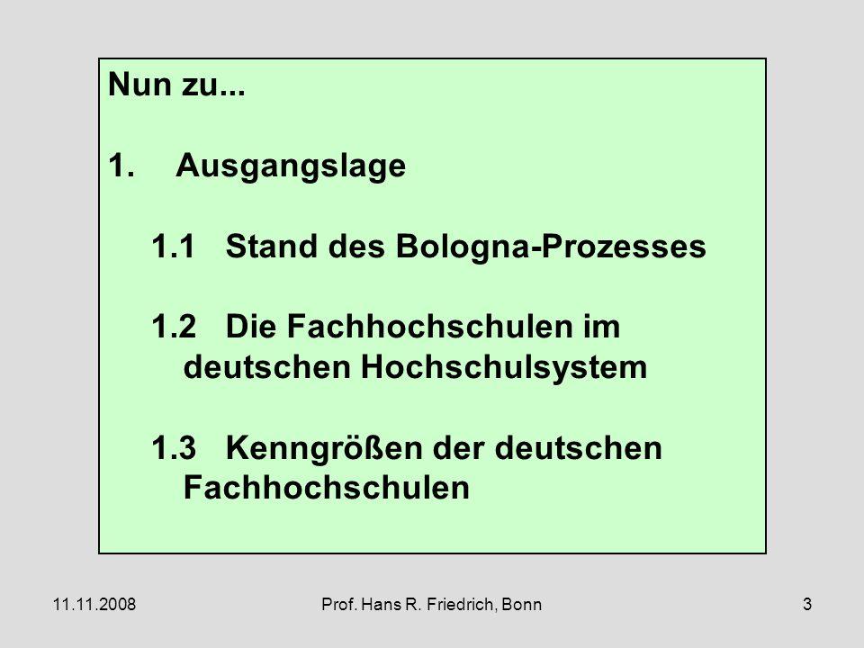 11.11.2008Prof. Hans R. Friedrich, Bonn3 Nun zu...