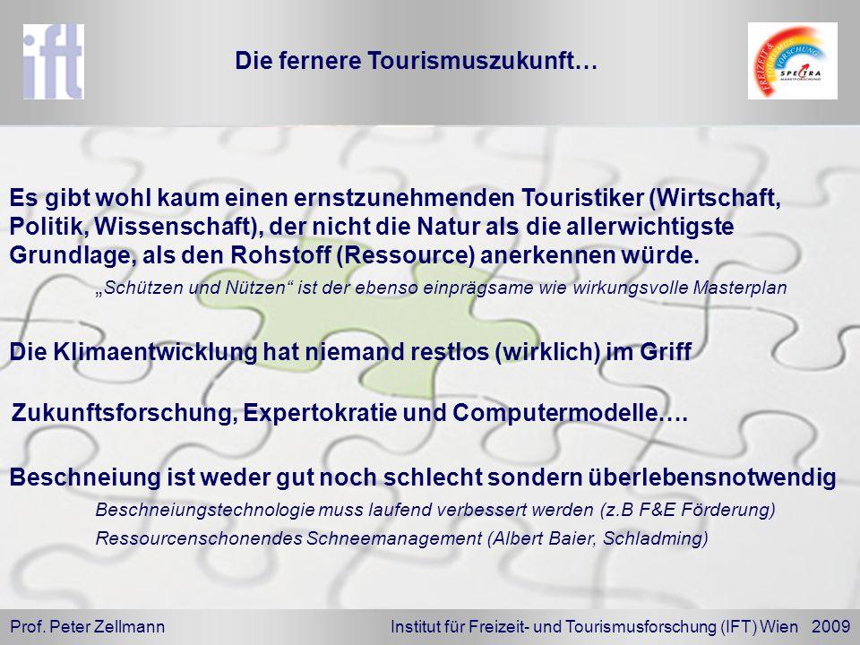Prof. Peter Zellmann Institut für Freizeit- und Tourismusforschung (IFT) Wien 2009 Beschneiung ist weder gut noch schlecht sondern überlebensnotwendig