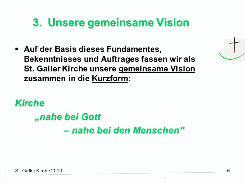St.Galler Kirche 20107 4. Entfaltung der gemeinsamen Vision Gelebter Glaube 1.