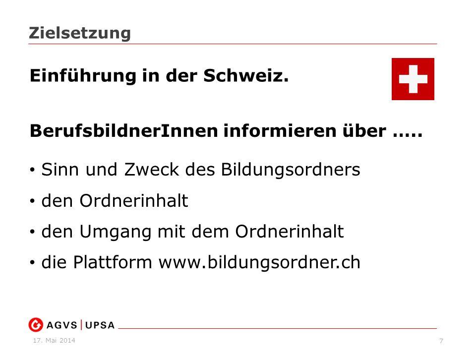 17. Mai 2014 18 www.bildungsordner.ch Dokumente zum Downloaden www.bildungsordner.ch