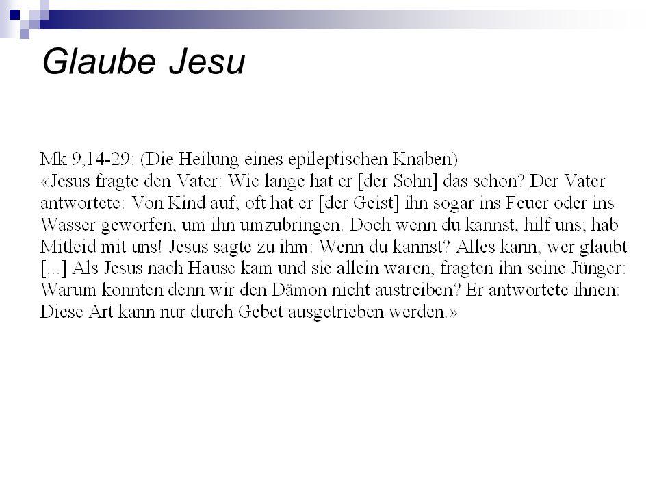 Glaube Jesu