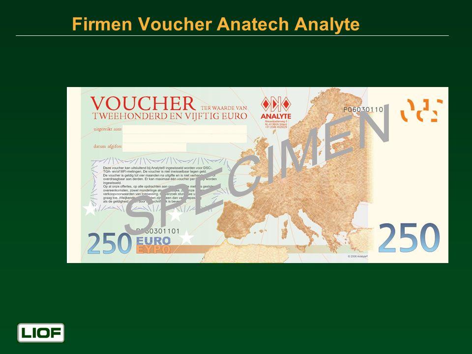 Firmen Voucher Anatech Analyte