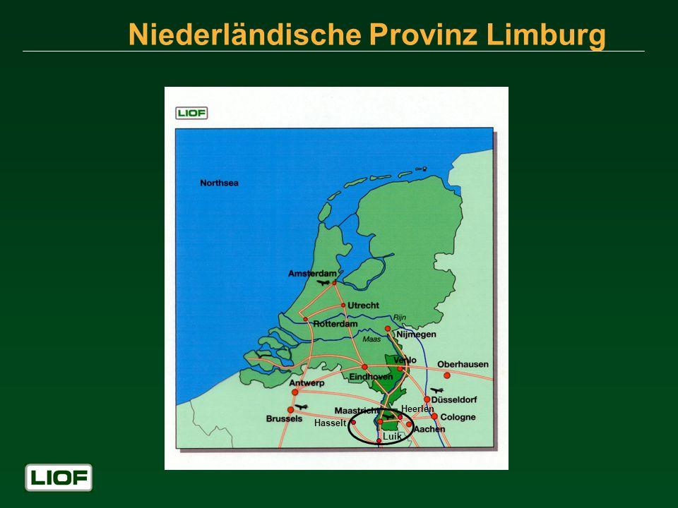 Niederländische Provinz Limburg Hasselt Luik Heerlen
