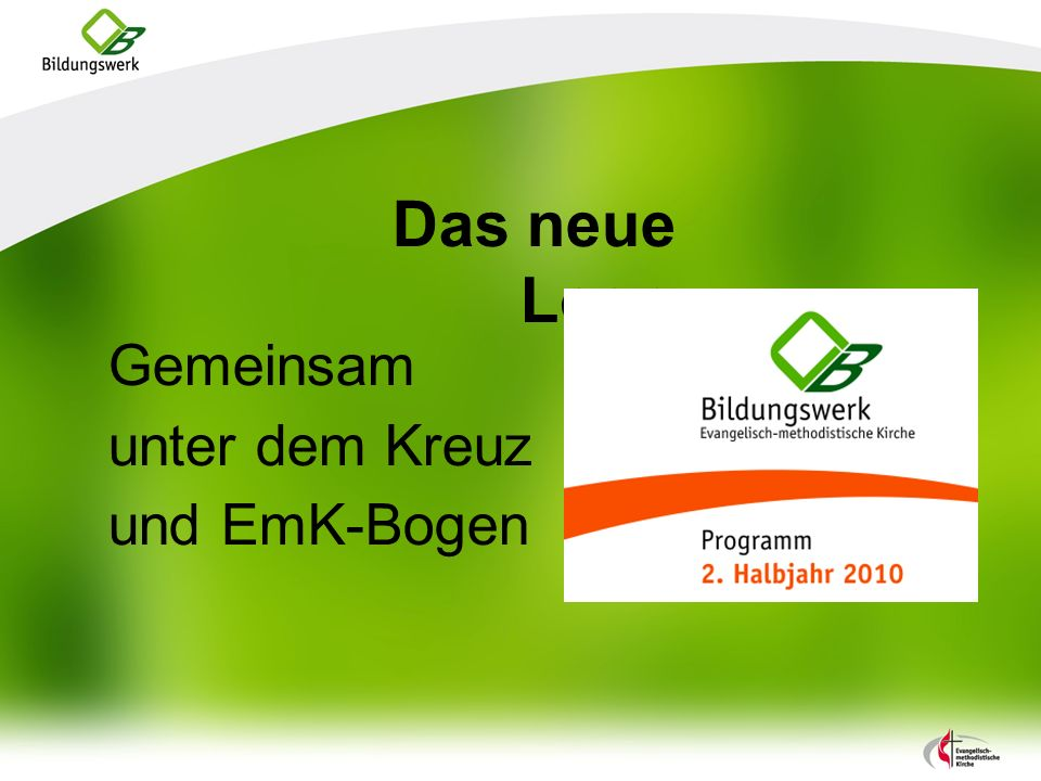Das neue Logo Gemeinsam unter dem Kreuz und EmK-Bogen