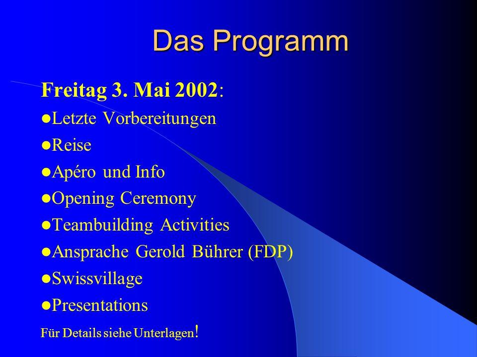 Teil 1: Das Rahmenprogramm