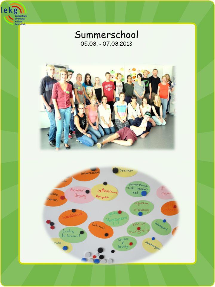 Summerschool 05.08. - 07.08.2013