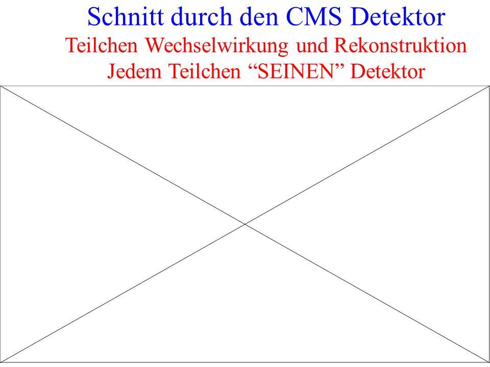 Schnitt durch den CMS Detektor Teilchen Wechselwirkung und Rekonstruktion Jedem Teilchen SEINEN Detektor 13
