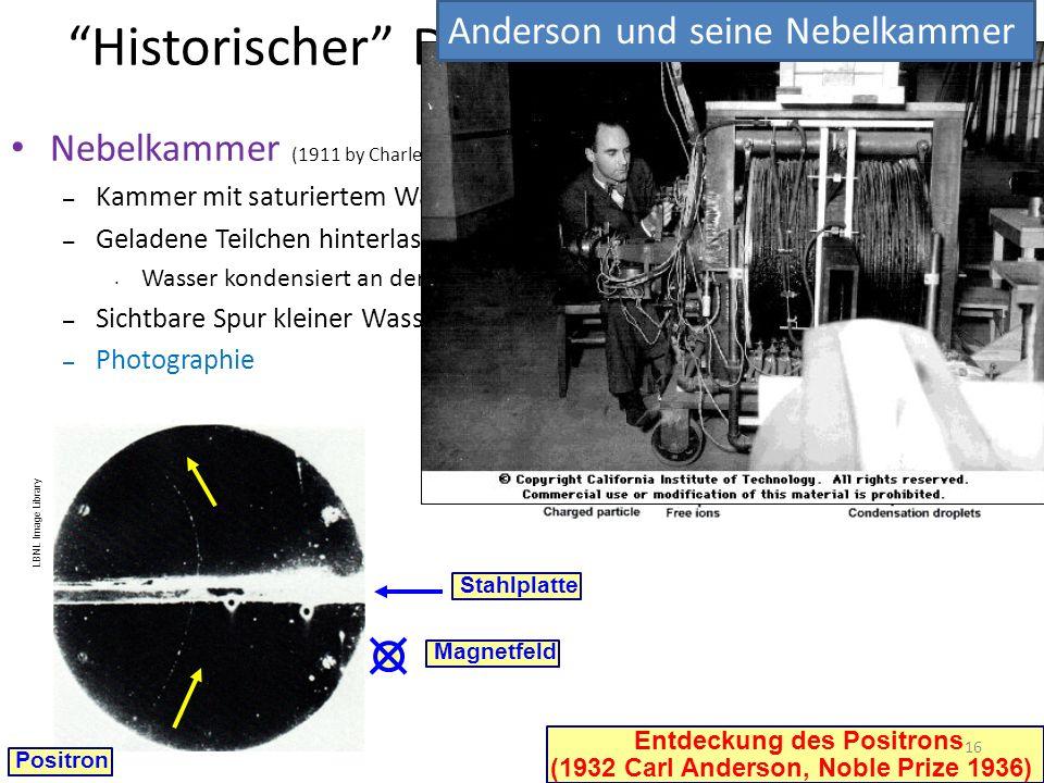 UK Science Museum Historischer Detektor: Nebelkammer Nebelkammer (1911 by Charles T. R. Wilson, Noble Prize 1927) – Kammer mit saturiertem Wasserdampf