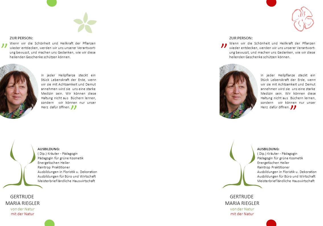 AUSBILDUNG: ( Dip.) Kräuter - Pädagogin Pädagogin für grüne Kosmetik Energetischen Heiler Raintrop Praktitioner Ausbildungen in Floristik u. Dekoratio