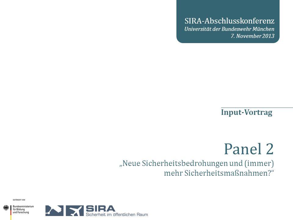 2 SIRA Abschlusskonferenz 1.Forschungsfrage 2.Sicherheitsbedrohung und –maßnahme 3.Security Repertoires 4.Fallbeispiel Global War on Terrorism Agenda