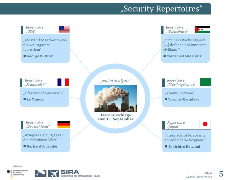 5 SIRA Abschlusskonferenz Security Repertoires societal affair Terroranschläge vom 11.