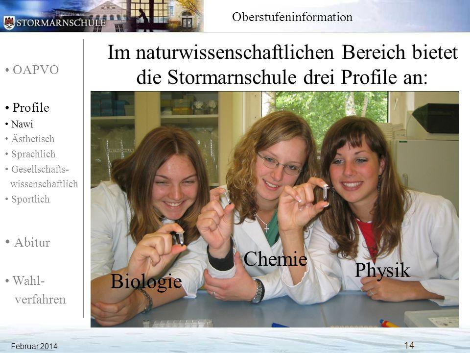 OAPVO Profile Nawi Ästhetisch Sprachlich Gesellschafts- wissenschaftlich Sportlich Abitur Wahl- verfahren Oberstufeninformation Was bietet das naturwissenschaftliche Profil mit dem Profilfach Biologie.