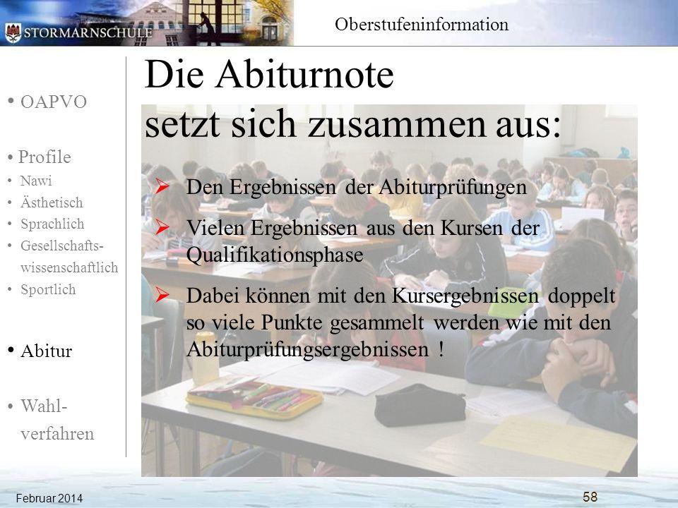 OAPVO Profile Nawi Ästhetisch Sprachlich Gesellschafts- wissenschaftlich Sportlich Abitur Wahl- verfahren Oberstufeninformation Welche Kurse werden eingebracht.