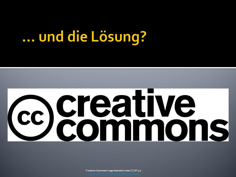 Creative Commons Logo lizenziert unter CC BY 4.0 http://creativecommons.org/about/downloads