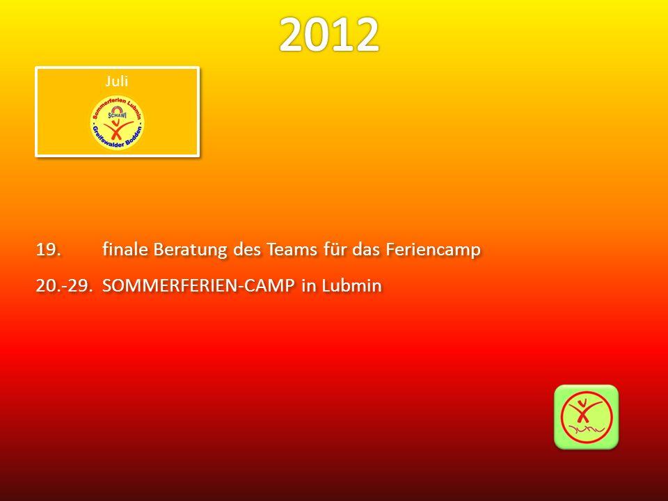 19.finale Beratung des Teams für das Feriencamp 20.-29.SOMMERFERIEN-CAMP in Lubmin 19.finale Beratung des Teams für das Feriencamp 20.-29.SOMMERFERIEN-CAMP in Lubmin Juli