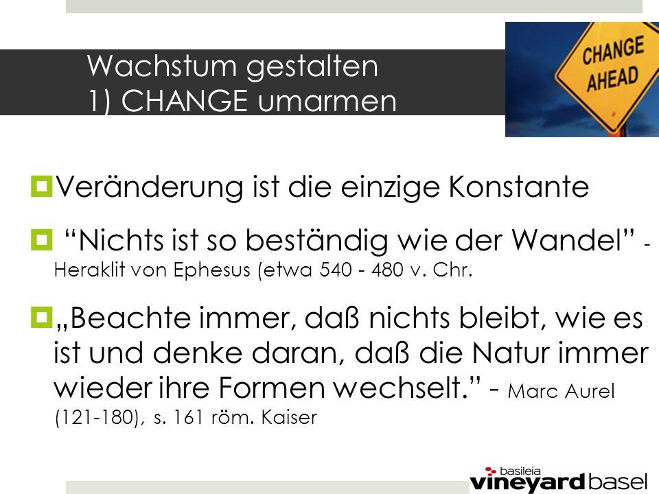 2) CHANGE verstehen: Zwei Auslöser für Veränderung Du Hast die Wahl 1.