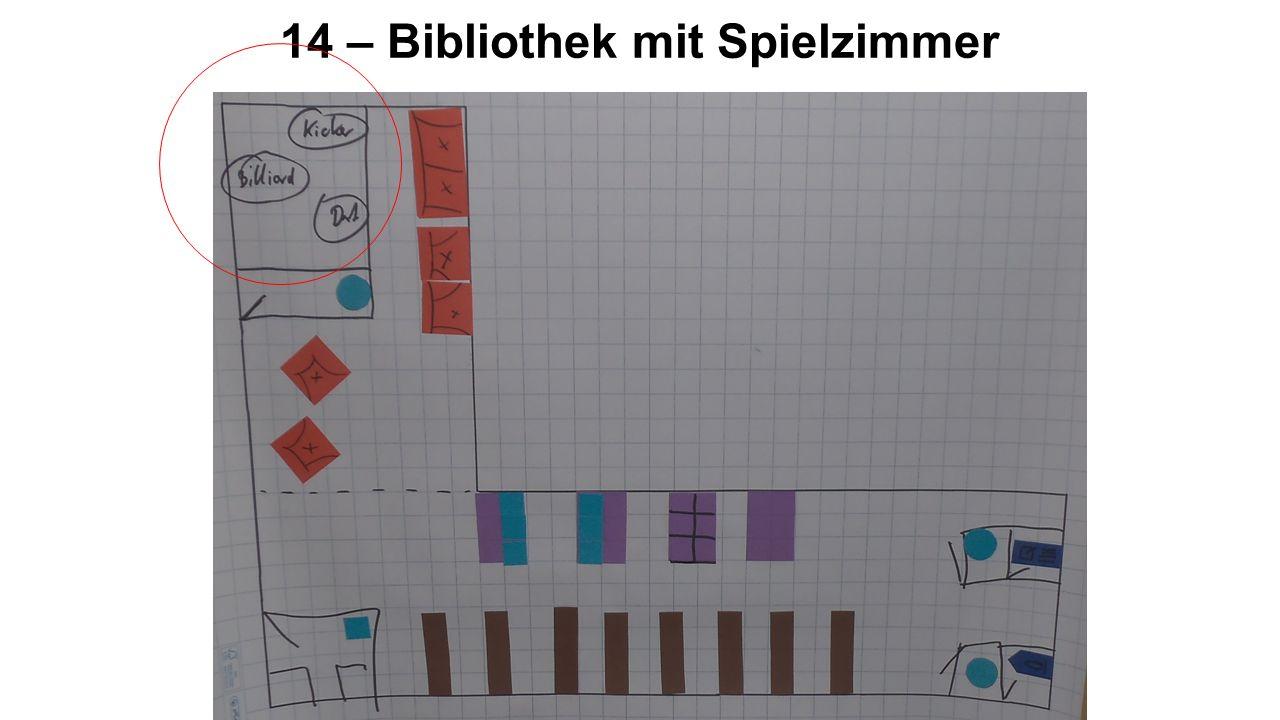 14 – Bibliothek mit Spielzimmer