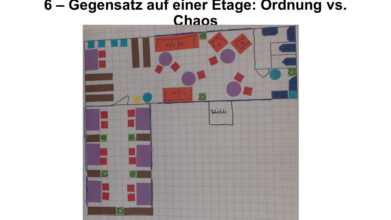 6 – Gegensatz auf einer Etage: Ordnung vs. Chaos
