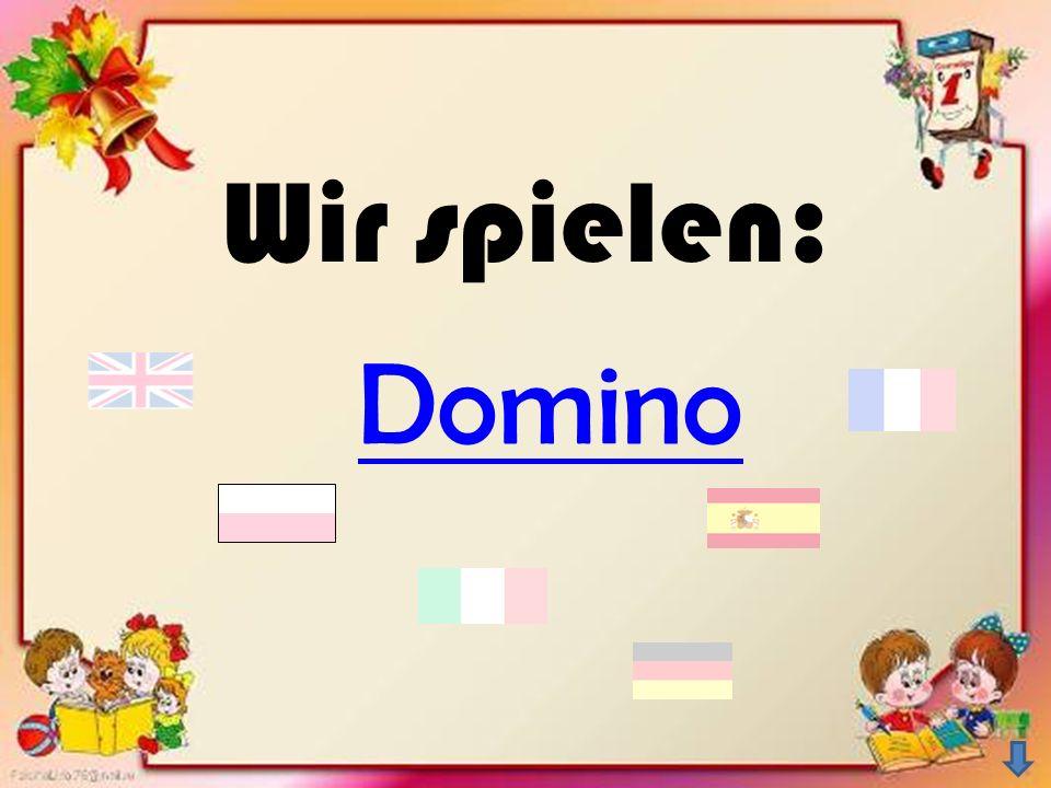 Wir spielen: Domino